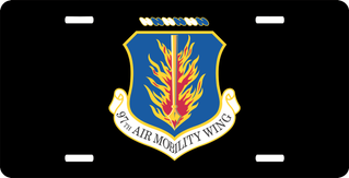 U.S. Air Force 97th Air Mobility Wing License Plate