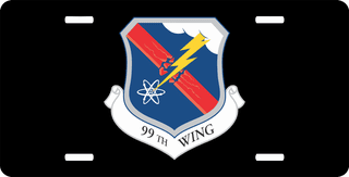 U.S. Air Force 99th Wing License Plate