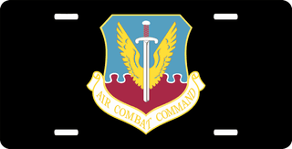 U.S. Air Force Air Combat Command License Plate