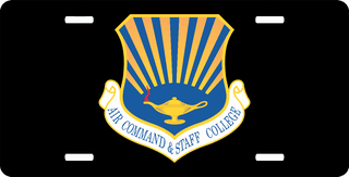 U.S. Air Force Air Command And Staff College License Plate