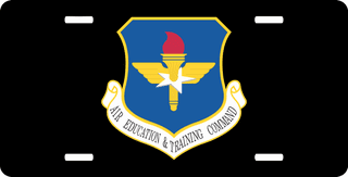 U.S. Air Force Air Education and Training Command License Plate