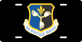 U.S. Air Force Air Weather Service License Plate