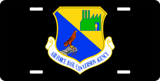 U.S. Air Force Base Conversion Agency License Plate