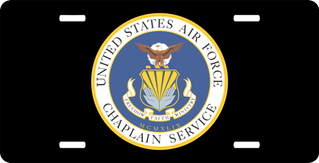 U.S. Air Force Chaplain Service Seal License Plate