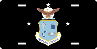 U.S. Air Force Chaplain Service With Stars License Plate