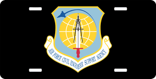 U.S. Air Force Civil Engineer Support Agency License Plate