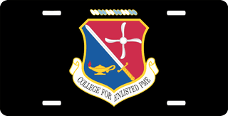 U.S. Air Force College For Enlisted PME License Plate