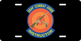 U.S. Air Force Combat Arms License Plate