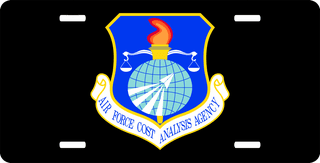 U.S. Air Force Cost Analysis Agency License Plate