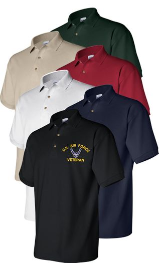 U.S. Air Force Custom Embroidered Polo Golf Shirt