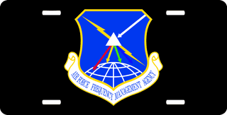 U.S. Air Force Frequency Management Agency License Plate