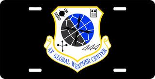 U.S. Air Force Global Weather Center License Plate