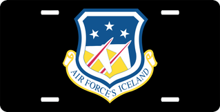 U.S. Air Force Head Quarter Iceland License Plate