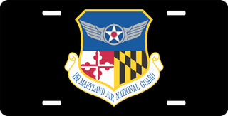 U.S. Air Force Headquarter Maryland Air National Guard License Plate