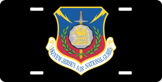 U.S. Air Force Headquarters New Jersey Air National Guard License Plate