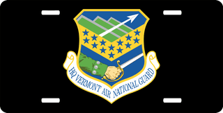 U.S. Air Force Headquarters Vermont Air National Guard License Plate