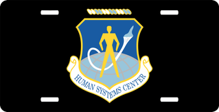 U.S. Air Force Human Systems Center License Plate