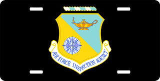 U.S. Air Force Inspection Agency License Plate