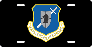 U.S. Air Force Intelligence Command License Plate