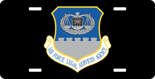 U.S. Air Force Legal Services Agency License Plate