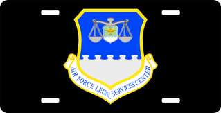 U.S. Air Force Legal Services Center License Plate