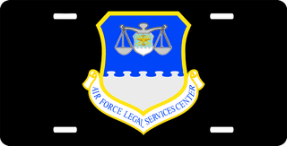 U.S. Air Force Legal Services Centers License Plate