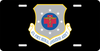 U.S. Air Force Medical Operations Agency License Plate
