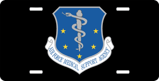 U.S. Air Force Medical Support Agency License Plate
