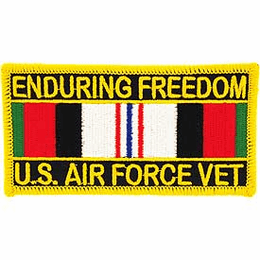 U.S. Air Force Operation Enduring Freedom With Service Ribbon Patch