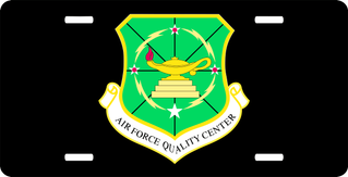 U.S. Air Force Quality Center License Plate