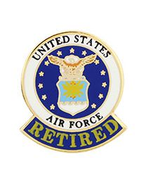 Us air force retired lapel pin publicscrutiny Choice Image