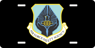 U.S. Air Force Safety Agency License Plate