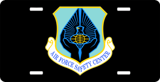 U.S. Air Force Safety Center License Plate