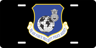 U.S. Air Force Security Police Agency License Plate