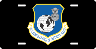 U.S. Air Force Security Police License Plate