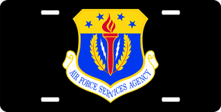 U.S. Air Force Services Agency License Plate