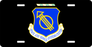 U.S. Air Force Space And Missile Systems Center License Plate