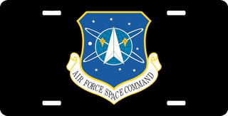 U.S. Air Force Space Command License Plate