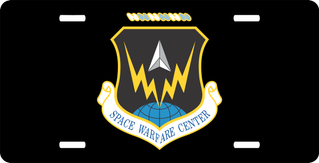 U.S. Air Force Space Warfare Center License Plate