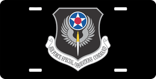 U.S. Air Force Special Operations Command License Plate
