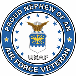 U.S. Air Force Veteran Proud Nephew Decal