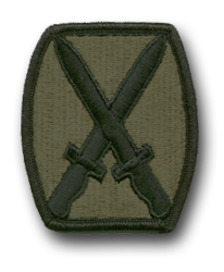 US ARMY '10th MOUNTAIN DIVISION' SUBDUED 2½