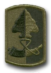 """U.S. Army 187th INFANTRY BRIGADE SUBDUED 3"""" MILITARY PATCH"""