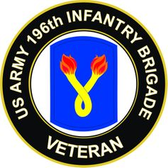 U.S. Army 196th Infantry Brigade Veteran Sticker Decal