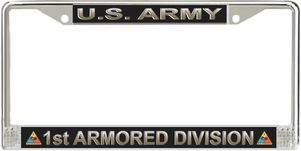 U.S. Army 1st Armored Division License Plate Frame
