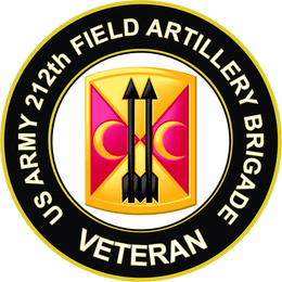 U.S. Army 212th Field Artillery Brigade Veteran Sticker Decal