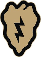 U.S. Army 25th Infantry Division Desert Tan Decal Sticker