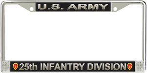 U.S. Army 25th Infantry Division License Plate Frame