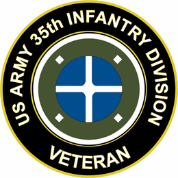 U.S. Army 35th Infantry Division Veteran Sticker Decal