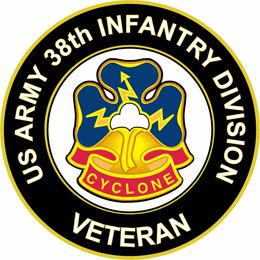 U.S. Army 38th Infantry Division Unit Crest Veteran Sticker Decal